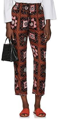 Natalie Martin Women's Bianca Tile-Print Pants - Brown Pat.