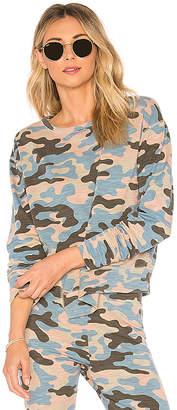 Sundry Camo Asymmetrical Hem Pullover