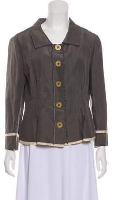 Philosophy di Alberta Ferretti Linen-Blend Jacket