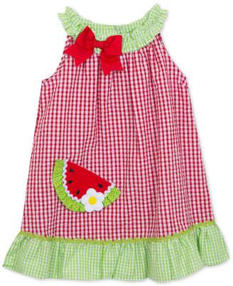 Rare Editions Watermelon Gingham Seersucker Dress, Toddler Girls
