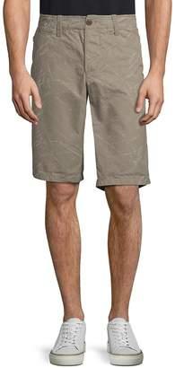 Jet Lag Jetlag Men's Vintage Flat Front Printed Cotton Shorts