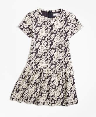 Brooks Brothers Knit Floral Jacquard Dress