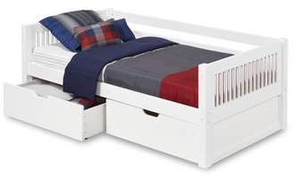 DAY Birger et Mikkelsen Camaflexi Twin Size Bed with Drawers - Mission Headboard - White Finish