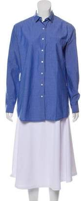 ATM Anthony Thomas Melillo Long Sleeve Button-Up Top