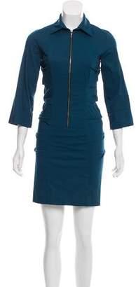 Nicole Miller Zipper-Accented Mini Dress w/ Tags