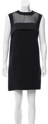 Celine Semi-Sheer Paneled Shift Dress