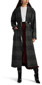 Women's Plaid Wool-Blend Belted Coat - Black