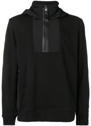 HUGO BOSS zip detail hoodie
