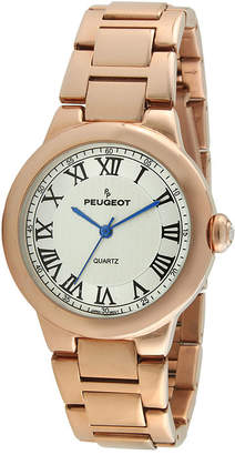 Peugeot Womens Roman Gillouch Dial Rose-Tone Bracelet Watch