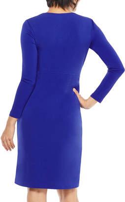 Maggy London Sonya Long-Sleeve Jersey Wrap Dress
