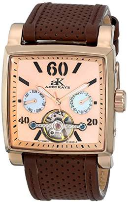 Adee Kaye Unisex ak9043-MRG Wall Street Analog Display Automatic Self Wind Brown Watch