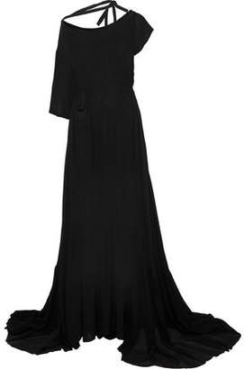 Ann Demeulemeester Belted Crepe De Chine Gown