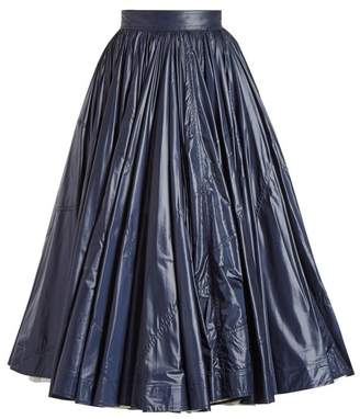 Calvin Klein Extra Light Flared Midi Skirt - Womens - Navy