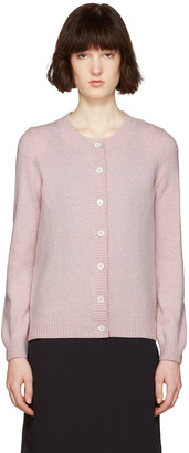 A.P.C. Pink Jackie Cardigan $340 thestylecure.com