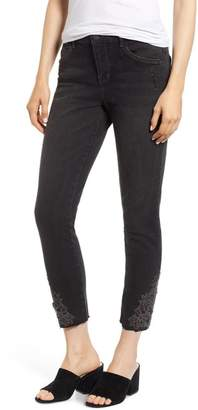 Wit & Wisdom Embroidered High Rise Ankle Skimmer Jeans (Regular & Petite) (Nordstrom Exclusive)