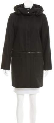 Zac Posen Wool-Blend Hooded Coat w/ Tags