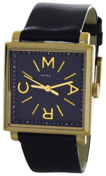 Marc By Marc JacobsMarc by Marc Jacobs MBM1279 Truman Black Dial Black Leather Womens 30mm Watch