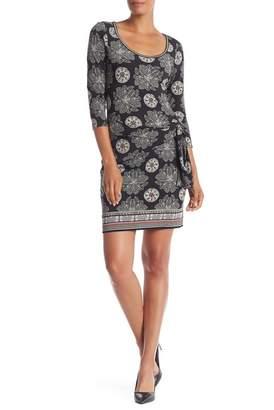Max Studio Long Sleeve Cinched Side Dress