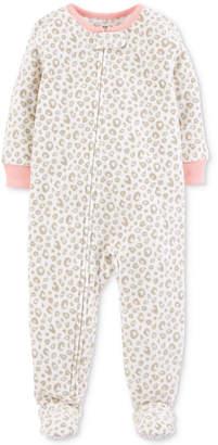 Carter's Baby Girls Printed Footed Fleece Pajamas