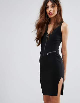 Sisley Zip Up Pencil Dress