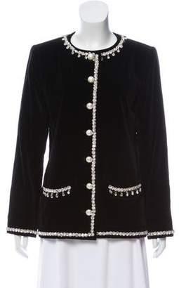 Saint Laurent Velvet Embellished Jacket
