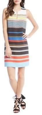 Karen Kane Modern Art Stripe Shift Dress