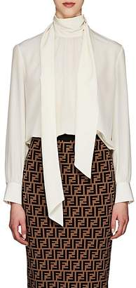 Fendi Women's Silk Crêpe De Chine Blouse - White