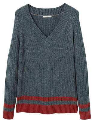 Mango man MANGO MAN Ribbed cotton-blend sweater