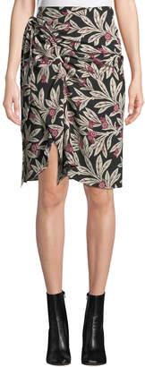 Etoile Isabel Marant Loela Gathered Floral Crepe Skirt
