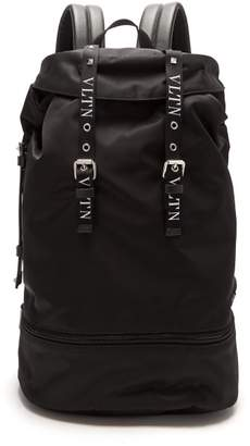 Valentino Vltn Nylon Backpack - Mens - Black