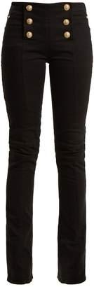 Balmain Button-detail kick-flare jeans
