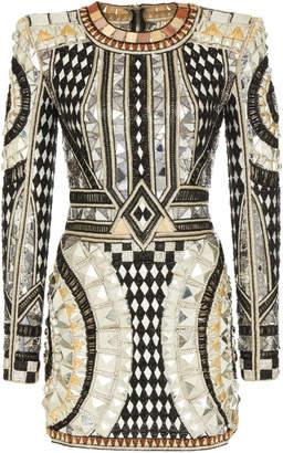 Balmain Stud Embroidered Dress