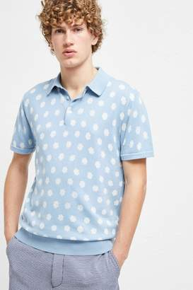 French Connection Superfine Hibiscus Dot Polo Shirt