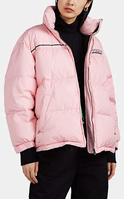 Prada Women's Arrow-Logo Down Puffer Jacket - Pink