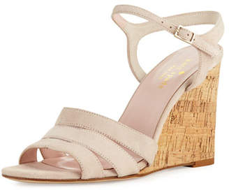 Kate Spade Tamara Cork Wedge Sandal, Blush