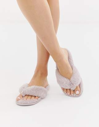 New Look slippers in lilac