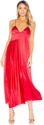 OFF-WHITE Pleated Panel Slip Dress in Red $1,109 thestylecure.com