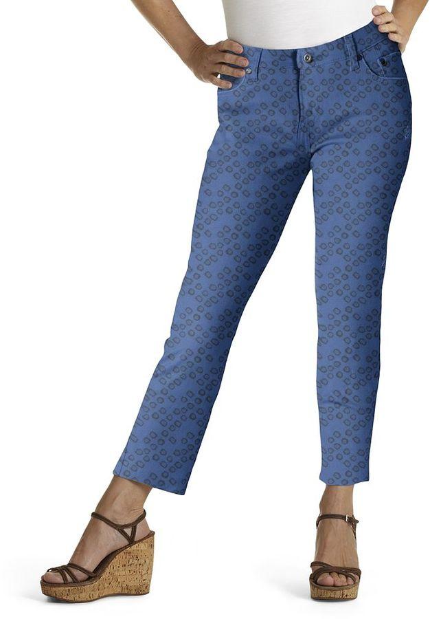 Levi's geometric skinny ankle jeans - petite