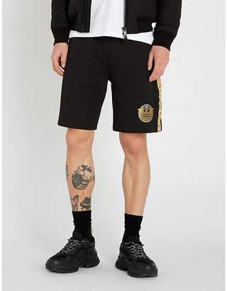 Selfridges Ea7 Armani Logo-print cotton-blend bermuda shorts