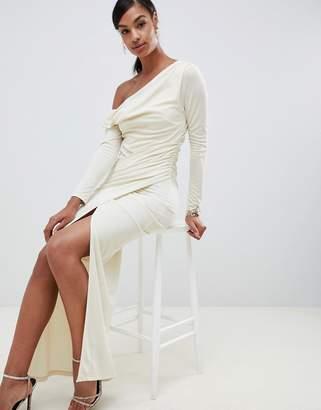 Asos Design DESIGN one shoulder slinky maxi dress