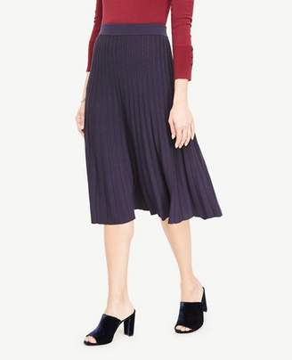 Ann Taylor Shimmer Pleated Sweater Skirt