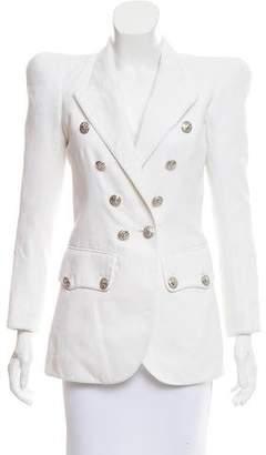 Balmain Linen-Blend Double-Breasted Jacket