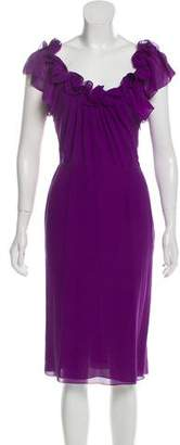 Christian Dior Sleeveless Silk Midi Dress