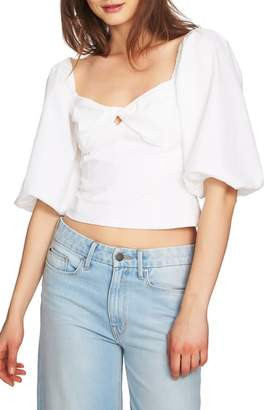 1 STATE 1.STATE Puff Sleeve Crop Top