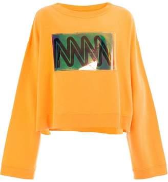 Maison Margiela zig-zag patch sweatshirt