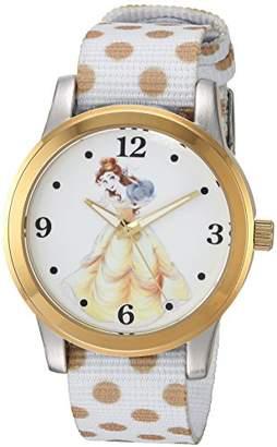 Disney Women's Princess Belle' Quartz Metal and Nylon Casual Watch