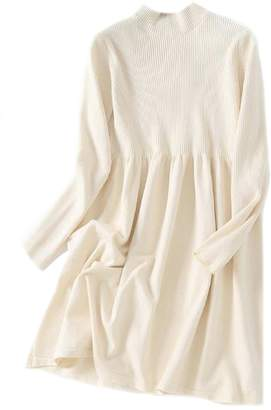 Goodnight Macaroon 'Laken' High Neck Dolly Knitted Dress (3 Colors)
