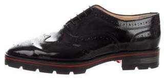 Christian Louboutin Charletta Flat Wingtip Brogues Oxfords