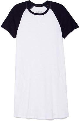 ATM Anthony Thomas Melillo Slub Color-Block Baseball Dress