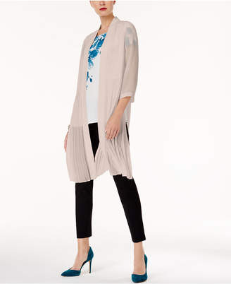 Alfani Pleated Chiffon Topper Jacket, Created for Macy's